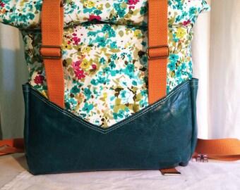 Leather Backpack, Backpack, Cotton Backpack, Retro Backpack