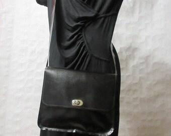 Black leather Crossbody bag.