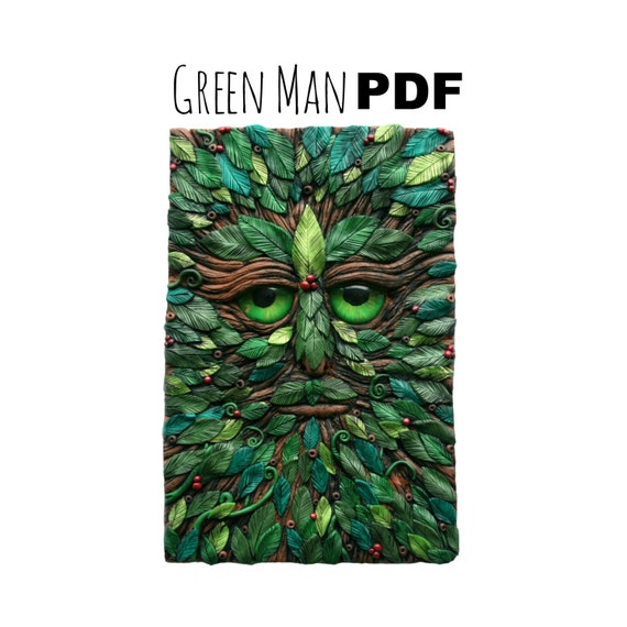 Fantasy Book Cover Tutorial ~ Off polymer clay tutorial pagan wiccan green man