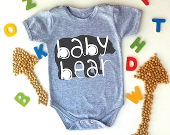 Baby Bear Bodysuit, Animal Baby, Tribal Baby, Baby Boy Clothes, Baby Girl Clothes, Newborn