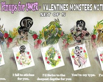 Monster Valentine Notes
