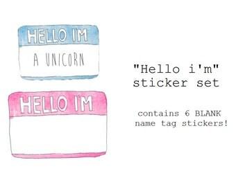 "The ""Hello I'm"" Name-tag sticker"