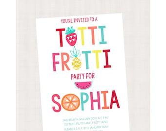 Tutti Frutti Collection Printable Invitation