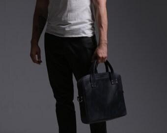 Leather Bag, Men's Leather Bag, Leather Briefcase, Leather Shoulder Bag, Men's Bag, Messenger Bag, Laptop Bag, Business Bag, Blue Bag, Gift