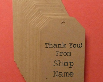 100 kraft tags personalized tags custom tags flat-tipped tags price tags gift tags clothing hang tags product tags merchandise tags labels