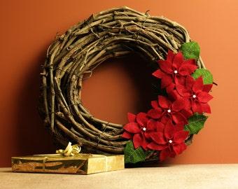 Kerstkrans/Deurhanger 'Kerstster' | Christmas Wreath