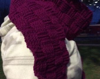Purple Basket Weave Scarf