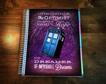 Doctor Who Laminated Planner Cover  Dashboard for Erin Condren Life Planner, Plum Paper Planner or Happy Planner