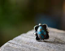 Bisbee turquoise and Sterling Silver statement ring