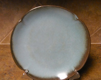 Frankoma Pottery Plate Vintage Shabby Chic Frankoma Dinner Plate