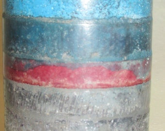 Handcrafted Round Jumbo Tealight Candleholder-  Fire Barrel