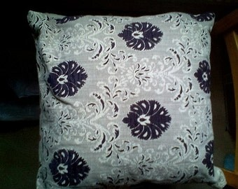 Brown damask cushion