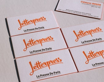 Letterpress - 1000 business cards high quality / 2 colors / front + back