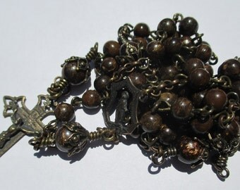 Rosary No. 37 - Franciscan Brown Bronzite