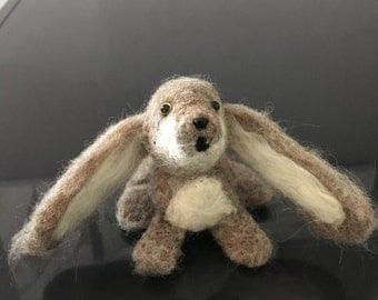 Young Bunny Needle Felted Rabbit Cottontail