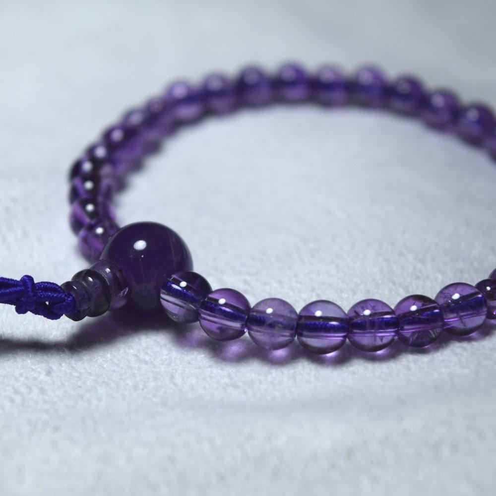 amethyst bracelet japanese juzu rosary prayer bracelet