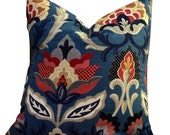 Waverly Isadora Adriatic, blue pillow cover, coral pillow cover, flower pillow covers, home decor