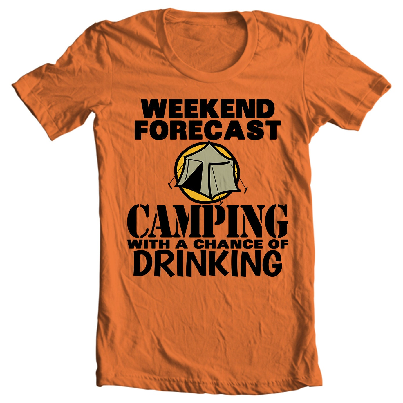 Camping T-shirt - Weekend Forecast - Camping With A Chance of Drinking - Camping T-shirt