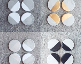 Circle Concrete Coasters
