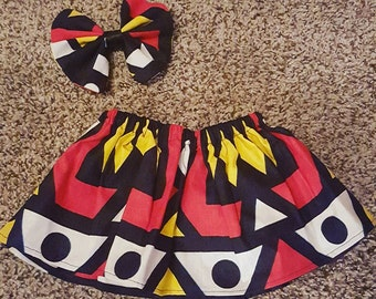 LAST ONE Tribal print Baby Girl Skirt Sz 12 Months