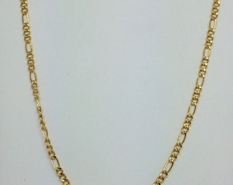 14K Yellow Gold Figaro Chain ~2.50mm