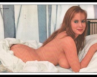 "Mature Playboy November 1962 : Playmate Centerfold Avis Kimble Winters 3 Page Spread Photo Wall Art Decor 11"" x 23"""