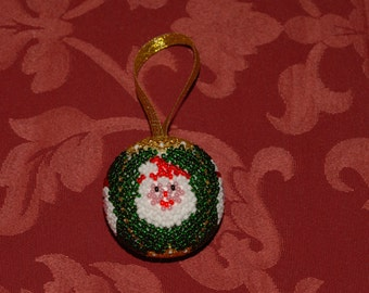 Ball with Santa Claus in weaving Danish