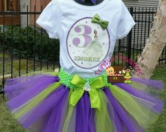 Princess Tiana Tutu, Princess Tiana Birthday Outfit, Princess Tiana Party, Princess Tiana Shirt,Princess Tiana Vest,Denim Vest,Birthday Vest