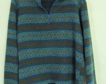 A Men's Vintage 60's SOUTHWEST Jacquard Print TAPESTRY Anorak Jacket By PETERS.M