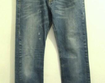Mens Vintage 90's,Grunged Blue SLIM Fit Jeans by BULLHEAD.30x32