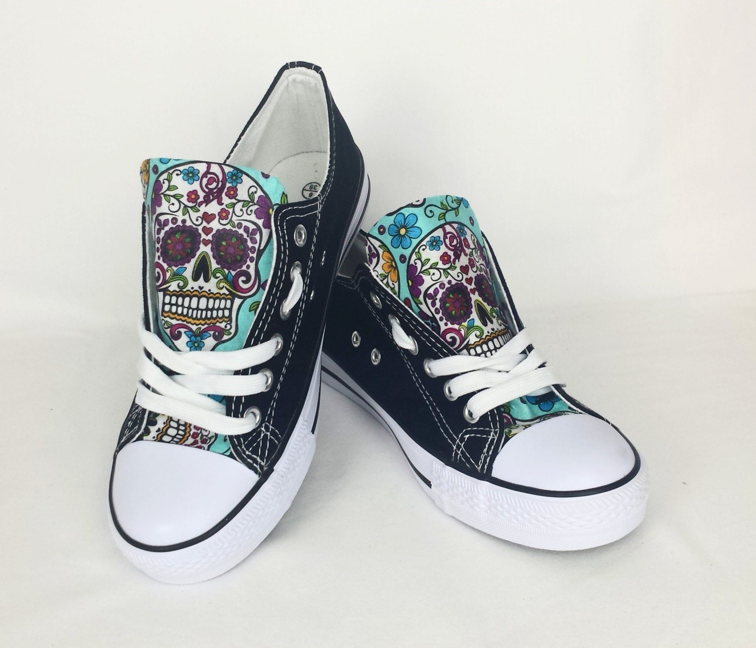 SALE Sugar skull shoes custom shoes day of the dead custom