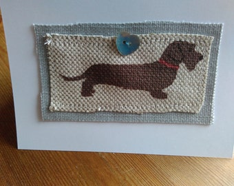 Wire haired Dachshund card