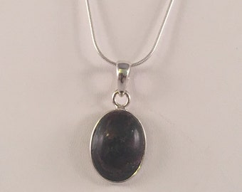 Sterling Silver Eudialyte Pendant Necklace