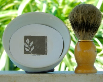 Mens shaving kit - Badger Shave brush - Shaving brush set - Mens Shaving Set - Mens Grooming Kit - Shaving bowl and brush - Mens shave soap