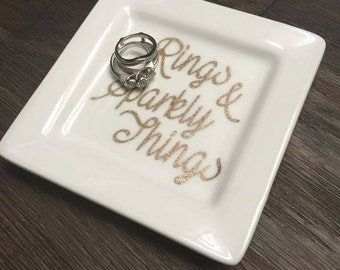 Jewelry Dish, ring dish, ring plate, jewelry plate, CUSTOMIZE, Personalize