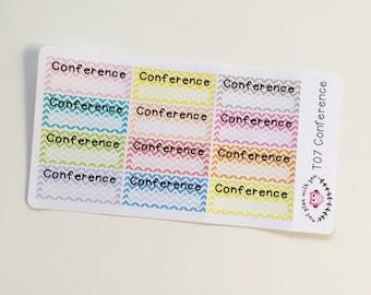 T07    12 Chevron Conference Stickers