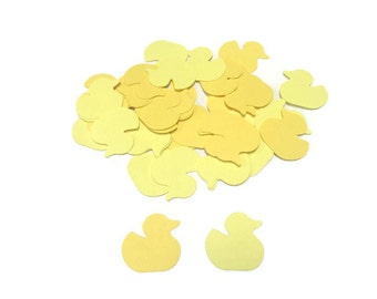 100 Yellow baby Duck Confetti, Die Cut Ducky, Baby Shower Decor, Yellow Baby Shower, Table Confetti, Shower Supply, Duck Theme Party