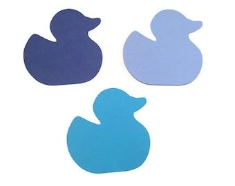 25 Assorted Blue Ducky Tags, Die Cut Duck, Ducky Baby Shower, Duck Theme Party, Ducky Décor, Rubber Ducky, Ducky Theme, DIY