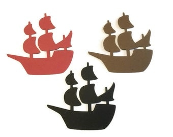 25 Pirate Ship Die Cut Tags, Pirate Theme Baby Shower, Pirate Theme Birthday Party, Pirate Party, Pirate Decor, DIY
