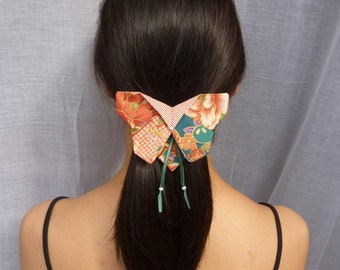 Origami fabric Butterfly hair clip
