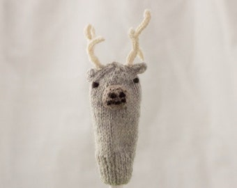 Stag Knit Wool Finger Puppets