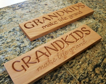 Custom Beech Wood Sign with Your Choice of Words and Design