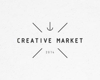 premade logo design - custom logo, small business logo, anchor logo, minimalist logo, modern logo, photography logo, geometric, hipster logo