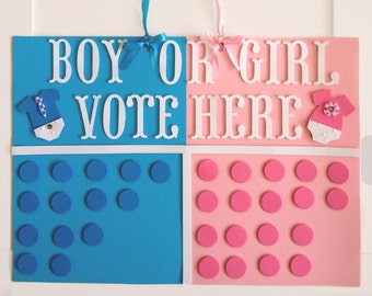 Gender reveal party decor, gender reveal party decorations, gender reveal game, gender party decor idea, boy or girl party poster
