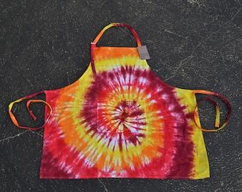 Tie Dye Autumn Inspired Apron, 100% Cotton