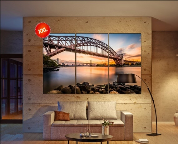 Hell Gate and Triboro bridge  canvas wall art  Hell Gate   wall decor canvas wall art  Hell Gate  large canvas wall art wall decoration