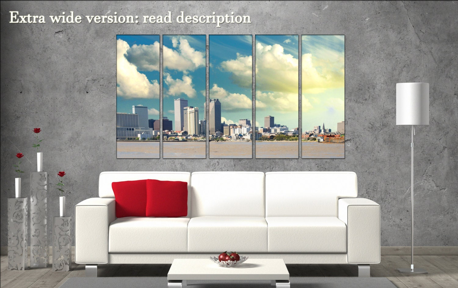 New Orleans Wall Art Canvas Skyline New Orleans Wall