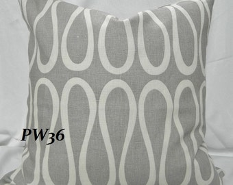 KRAVET- Bodoni Shadow By Jonathan Adler - Decorative Throw Pillow, Lumbar Pillow Cover/ Both Sides / Linen