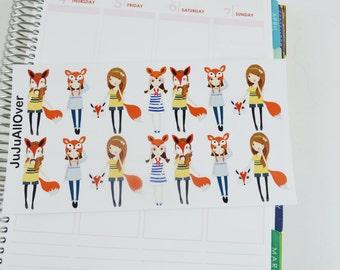 14 Foxy Girl Decorative Sheet