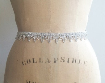 Art Deco Rhinestone Bridal Sash Belt-Bridesmaid Belt-Beaded Rhinestone Bridal Sash Belt-Bridesmaid Sash belt-Art Deco Bridesmaid Sash Belt
